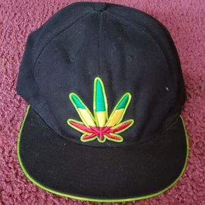 Rasta leaf snap back hat